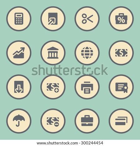 Finance web icons set - stock vector