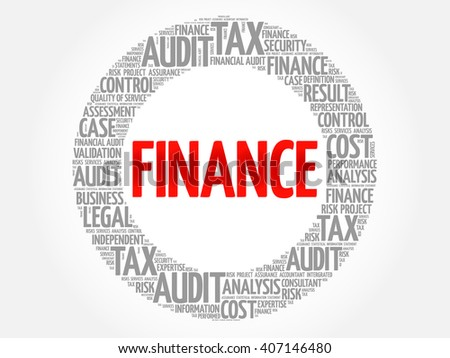 FINANCE word cloud, business concept - stock vector