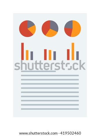 Financial accounting, business report vector. Business report financial chart and business report graph analysis plan. Business report corporate market and business report management diagram. - stock vector