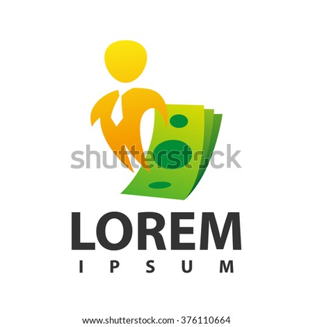 Financial adviser icon design layout. Business and finance creative icon concept. Money symbol template - stock vector