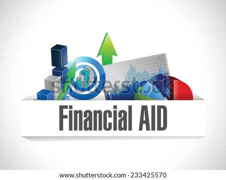 financial aid business graphs illustration design over a white background