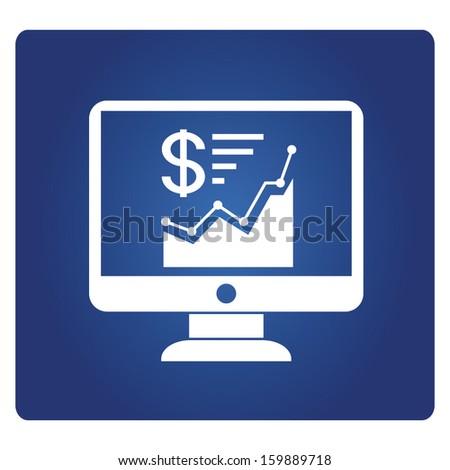 financial analysis - stock vector