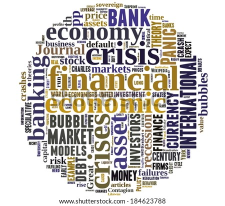 Financial concept in word tag cloud on white background - stock vector