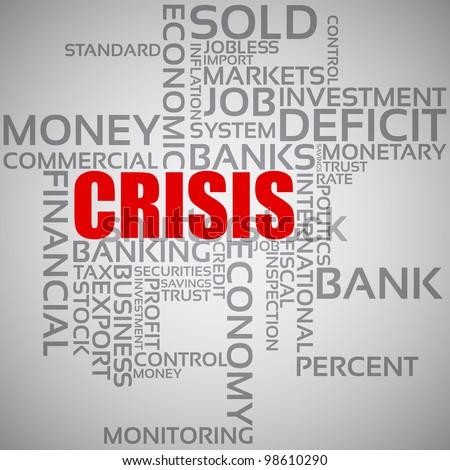 Financial Crisis Concept - stock vector