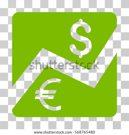 Financial Diagram icon. Vector illustration style is flat iconic symbol, eco green color, transparent background. Designed for web and software interfaces.