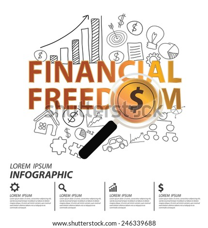 Financial freedom and business concept. vector illustration. - stock vector