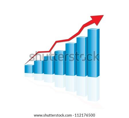 financial graph - stock vector