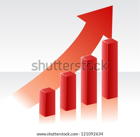Financial Growth - stock vector
