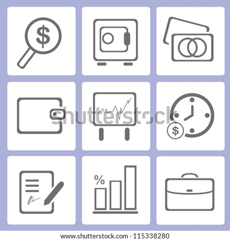 financial icon set, business icon set - stock vector