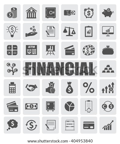 Financial icons set