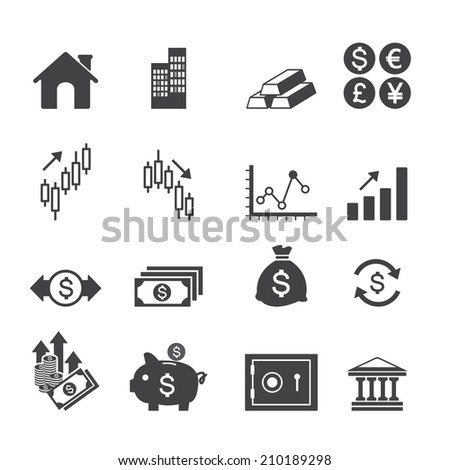 Financial investment icons - stock vector
