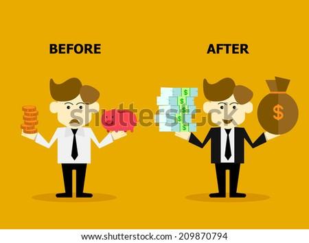 financial progress - stock vector
