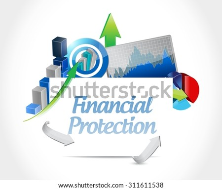 Financial Protection business sign concept illustration design graphic