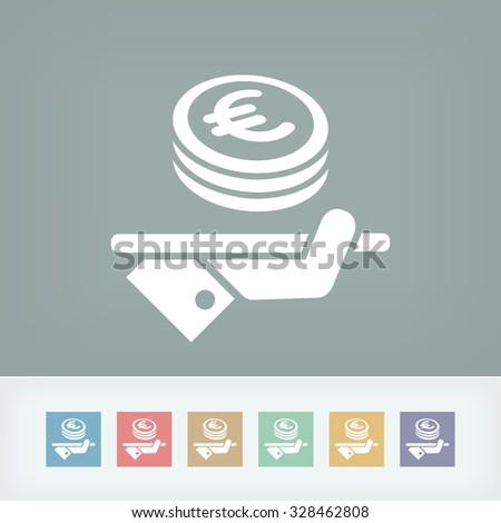 Financial services - Euro - stock vector