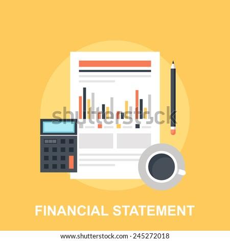 Financial Statement - stock vector