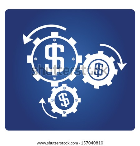 financial system - stock vector