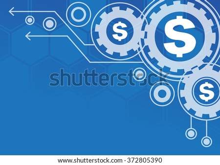 Financial  Technology Success  abstract  business - stock vector