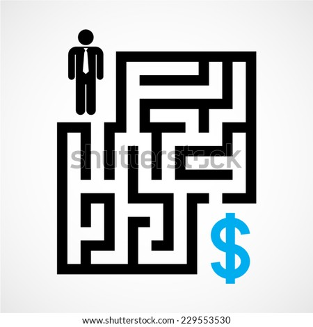 financial trouble - stock vector