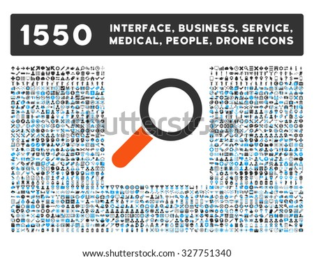 Find and other web interface, business tools, people poses, medical service vector icons. Style is flat symbols, bicolored, rounded angles, white background. - stock vector