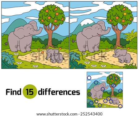 Find differences (elephants)