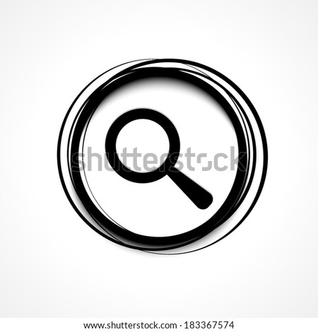 Find, magnify, search, zoom icon - stock vector