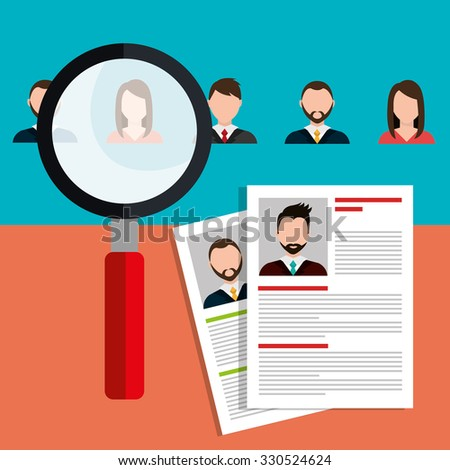 Find person for job opportunity, vector illustration design - stock vector