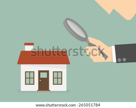 Find real estate, searching for home - stock vector