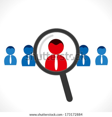 find right people for job concept vector - stock vector