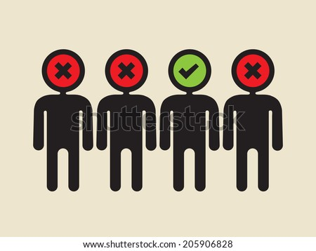 find the best candidate - stock vector