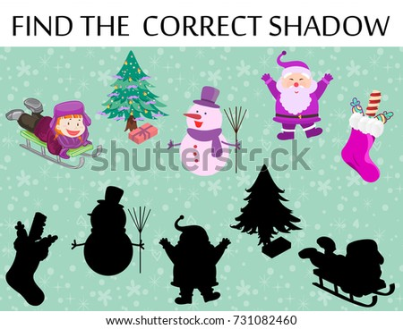 Find Correct Shadow Educational Game Children Stock Vector 731082460 ...