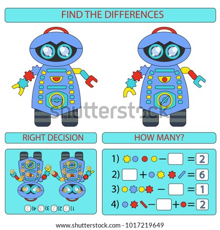 Find difference between two robots children stock vector 1017219649 find the difference between two robots children funny entertainment robots in flat style isolated thecheapjerseys Images