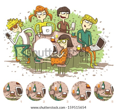Find the right piece, visual game. Answer No. 2. Illustration is in eps8 vector mode! - stock vector