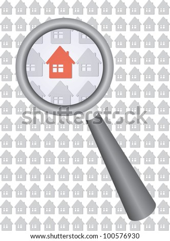 find your house vector illustration - stock vector