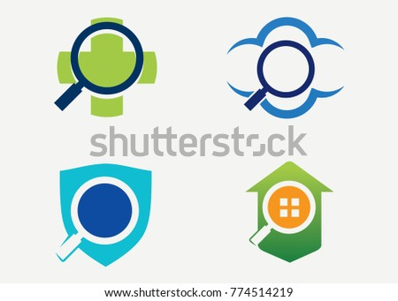 finder logo set template design vector stock vector 774514219 rh shutterstock com logo finder 4 logo finder app