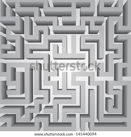finding way labyrinth concept vector structure illustration - stock vector
