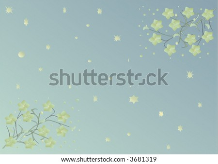 fine flower ornament in green color