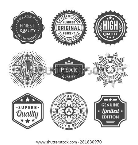 Finest Quality Vintage Seals, Labels and Badges Collection - stock vector