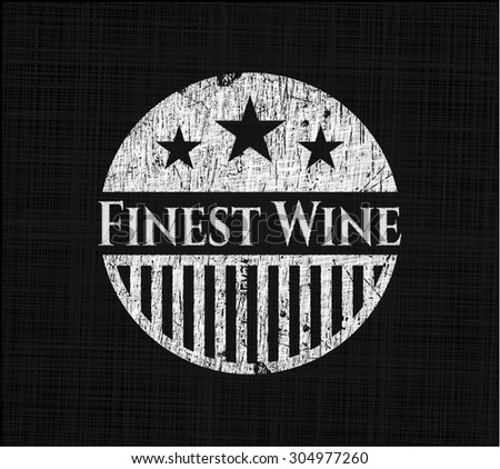 Finest Wine on blackboard - stock vector
