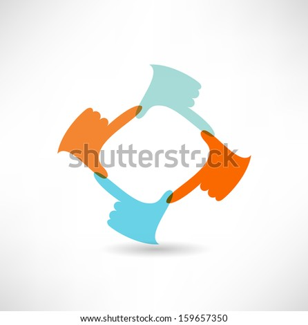 finger frame - stock vector
