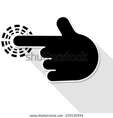 finger pointer symbol, vector