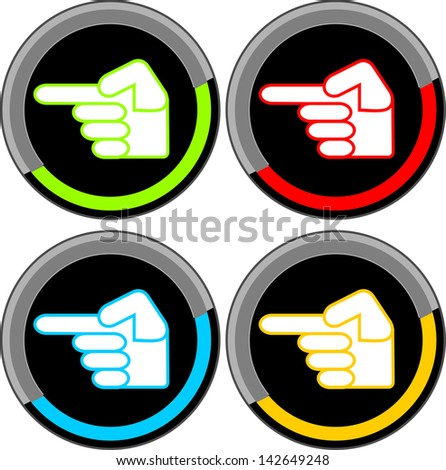 finger pointing symbol - stock vector