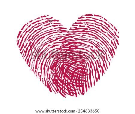 Fingerprint Heart Stock Vectors & Vector Clip Art ...