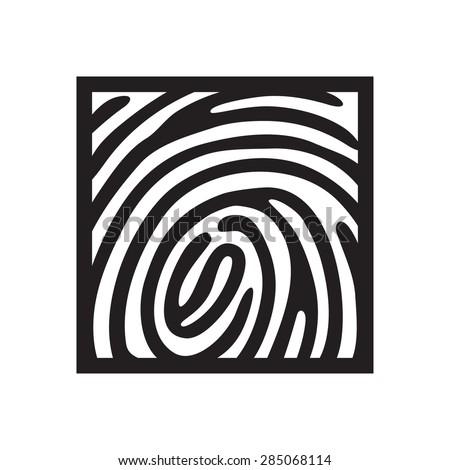finger print icon - stock vector