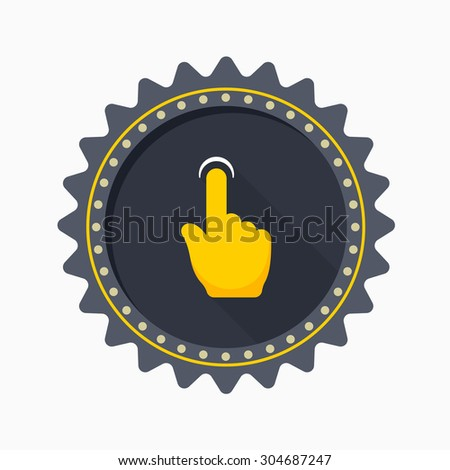 Finger touch icon - vector , eps10 (flat icon , long shadow)