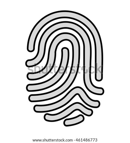 fingerprint access human icon vector isolated design