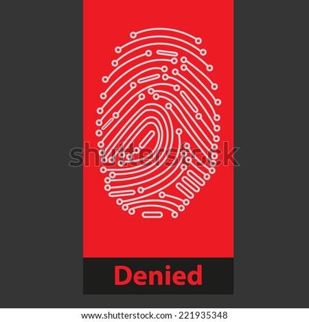 Fingerprint Reader - stock vector