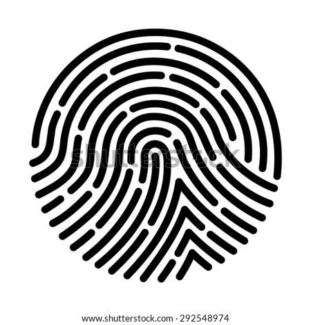 fingerprint scan - stock vector