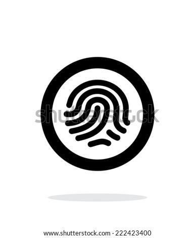 Fingerprint scanner icon on white background. Vector illustration. - stock vector