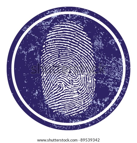 Fingerprint sign vector - stock vector