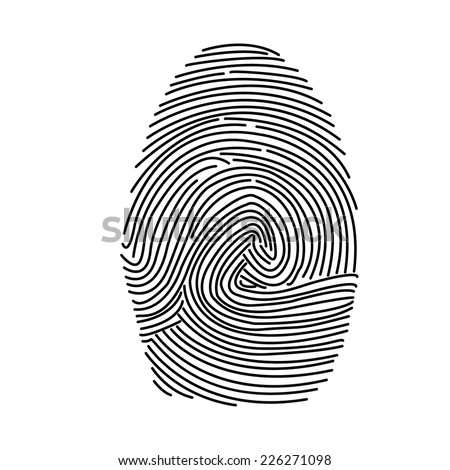 fingerprint vector icon - stock vector
